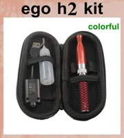 Wholesale Ego Electronic Cigarette Juice - E-cigarette ego t h2 Electronic Cigarette Starter Kit Colorful GS H2 Atomizer e juice vaporizer vs ego 2200mah ce4 kit YA0057