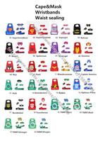 Wholesale Despicable Dhl - DHL free ship 22 styles superhero capes and mask set L70*W70cm double side Captain cloak batman Star wars Cape Despicable me capes+mask set
