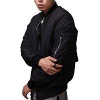 спортивная свадьба оптовых-Fall-Men Winter jacket men Fashion jackets swag Men's Hip hop coat padded Warm windbreaker  sport casual Space coat Chris brown