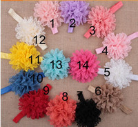 Wholesale Girls Big Flower Headbands - Hair Accessories For Infant Baby Lace Big Flower Pearl Princess Babies Girl Hair Band Headband Baby's Head Band Kids Hairwear