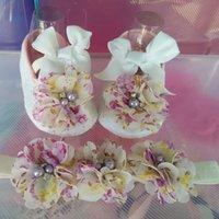 Wholesale Ivory Baby Booties - Wholesale-Ivory newborn Booties baby girls shoes toddler;sapatos de bebe menina baby shoes ballerina;girls baptism set