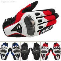 taichi yarış eldivenleri toptan satış-off-road sürüş eldiven karbon fiber taktik eldiven yarış Toptan-Yüksek Kalite RS Taichi motosiklet eldiven deri koyun derisi