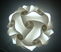 Wholesale Infinity Iq Puzzle Light - DIY Modern Pendant Ball novel iq lamp puzzle pendants white color pendant lights size 25cm 30cm 40cm Jigsaw Infinity lamp 9 colors available