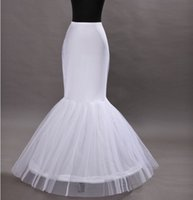 Wholesale Mermaid Slip Prom Dresses - Cheap Mermaid Petticoats Trumpet Wedding Dress Underskirt Bridal Dresses Slip Prom Gown Dresses Petticoat Plus Size Crinoline Underskirts