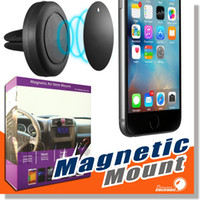 Wholesale Mount Holder For Iphone - Car Mount, Air Vent Magnetic Universal Car Mount Phone Holder for iPhone 6 6s, One Step Mounting ,Reinforced Magnet, Easier Safer Driving