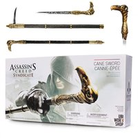 Nouveau NECA Assassin's Creed Syndicate Sword Cane Cosplay Weapon Jacob Frye Cane Hidden Blade PVC Action Figure Modèle Toy Gifts
