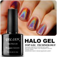 Wholesale Halo Art - Wholesale-Gel Len New Arrival Halo Gel Polish 20 Colors Nails Art Glitter LED Soak Off Long-lasting Gel Varnish Polish