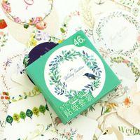 Wholesale Cartoon Photo Album - 46 x box Flowers language photo album Scrapbook paper decoration sticker DIY Handmade stickers Arts Craft gift Free shipping
