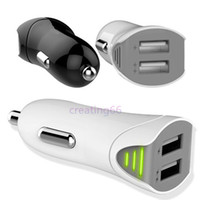 Wholesale Wholesale Modle Cars - 10pcs 2016 new modle luxury real 2.1A rocket car charger Dual USB Car charger adapter high-end quality with fuse for Samsung iphone ipad
