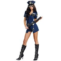 Wholesale Sexy Lingerie Costume Police - new female Adult Sexy Lingerie Police Cop cosplay Uniform Costume Outfit Hat Handcuffs Sets Hot Women Sets A2