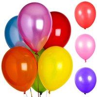 Wholesale Latex Ballon Wholesaler - 100pcs Lot 10inch Latex Helium Inflable Ball Ballon Wedding Party And Birthday Decoration Pearl Balloon Birthday Present Gift Papelaria