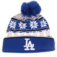 Wholesale Woolen Hats For Women - Wholesale-2015 Hot New MLB Los Angeles Dodgers Beanie LA Dodgers hat knit cap For Women And Men Warm Woolen Hats hip-hop hat