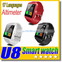 Bluetooth Smart Watch U8 Uhr Handgelenk Smartwatch für iPhone 4 4S 5 5S Samsung S4 S5 Hinweis 2 Hinweis 3 HTC Android Phone Smartphone