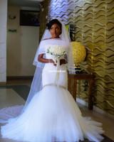 Wholesale Empire Waist Wedding Dresses Beaded - 2018 Newest With Wrap White Sweetheart Neck Wedding Dresses Beaded Crystal Empire Waist Mermaid Bridal Gown Custom Made Vesido De Nova