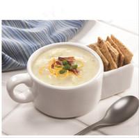 Wholesale Ceramic Dessert Bowls - Ceramic Mug Coffee Biscuits Milk Dessert Cup Porridge Bowl French Fries Vegetable Mug Bottom Storage Cookie Biscuits Pockets 24pcs OOA3592