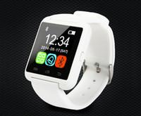 montres andriod achat en gros de-Montre Bluetooth U8 U Watch 2 avec ALTIMÈTRE / Répertoire téléphonique, appel / MP3 / alarme pour Samsung S6 S5 NOTE 4 Téléphone Andriod et iPhone 6 plus 5S