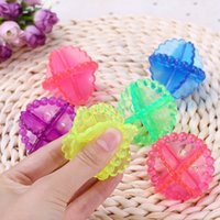 Wholesale use ball resale online - Round Plastic Washing Clothes Ball Hollow Out Perforation Design Ceaning Tools Decontamination Anti Winding Laundry Balls Easy To Use re