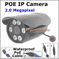 Wholesale Ir Camera Ethernet - Full HD POE IP Camera 1920*1080 waterproof IR Night vision P2P Remote view Outdoor indoor 2.0MP power over Ethernet IP Camera