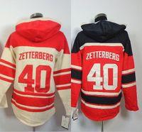 Wholesale Cheap Sweatshirts For Sale - 2016, 2015 authentic 40# Henrik Zetterberg detroit Hoodie Old Time Hockey Jersey Hoodies Sweatshirt size S-3XL Cheap for sale