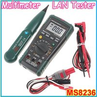 Wholesale Mastech Ms8236 - Wholesale-1pcs MASTECH MS8236 Multifunction Digital Network Multimeter LAN Tester Net Cable Tracker Tone Telephone line Check Non-contact