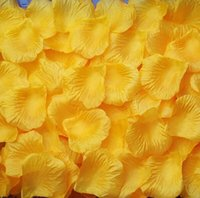 Wholesale Wedding Favors Yellow Flowers - MIC Hot sell 4000Pcs Yellow Silk Rose Petals Wedding Supplies Flowers favors Decoration Flowers Petals Garlands