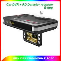 Wholesale G Dog - HD 1280*720P Car DVR + RD E-dog Radar Detector edog 2in1 car Camera (English+Russian broadcast )