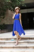 Wholesale Ladys Dresses - Top Quality Womens Summer Dress Sweet ladys Casual Dresses Fashion Stylish Party Dresses Flora Printed Dresses Size:M-XL Free Shipping