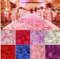 altın ipek yaprakları toptan satış-Yapay İpek Gül Yapraklı Düğün Petal Çiçekler Parti Süslemeleri Garlands Altın Şampanya 52 Renkler Olaylar Aksesuarları 5 cm MIC 1000 adet