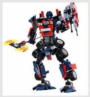 Wholesale Gi Plastics - Goodey 8713 deformation assembly blocks sunny Tianzhu robot boy intelligence development, hands-on brains toys, children plastic birthday gi