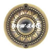 Wholesale door bell buttons resale online - Antique brass round door bell switch push button