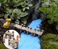 ingrosso case in miniatura da fiaba-10pcs Corridoio scale fairy garden miniature jardin beach garden decor terrario figurine gnome resina fata casa fai da te Dollhouse Decor