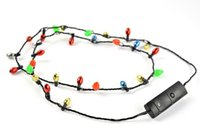 Wholesale Led Christmas Lights Necklace - Festival Led Necklace Necklaces Flashing Beaded Light Toys Christmas gift flashing necklace christmas santa DHL Free 1000pcs