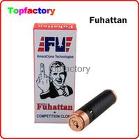 Wholesale Carbon Fiber Usa - Fuhattan 1:1 Clone 510 Thread Mod E Cigarette Machanical Mods Clone USA Manhattan Mod Carbon Fiber Fuhattan Mods Magnet Bottom e Cig Mods
