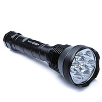 Wholesale Rechargeable Strobe Flashlight - Free shipping 11000 Lumens Super Bright Waterproof 9 x CREE XML T6 LED Flashlight Torch 5 Modes 11000lm Aluminum LED Flash Light