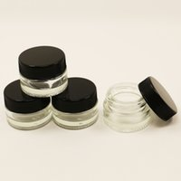 ecig shatter bho extraction 5ml glass wax containers for dab vaporizer glass storage jar containers clear glass cosmetic jars wholesale in bulk