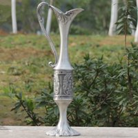 Wholesale Beautiful Flower Vases - 2016 new arrived design pewter plated metal flower vase for home decoration with Beautiful patterns craft