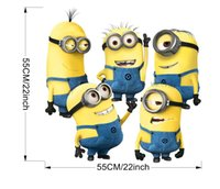 Wholesale Wholesale Children Wall Decor - PrettyBaby cartoon despicable me minions wall stickers for kids rooms decorative Children Room Vinyl 3d decor home free shipping in stock