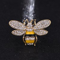 Wholesale Gold Rhinestone Brooch Buckle - Brand Designer Bee Brooches Pins For Women High Quality Rhinestone Crystal Buckle Brooch Luxury Jewelries Wholesale