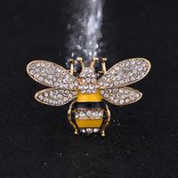 wölbungsbroschen großhandel-Marke Designer Biene Broschen Pins Für Frauen Hohe Qualität Strass Kristall Schnalle Brosche Luxus Schmuck Großhandel