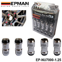 ruedas volk rays al por mayor-AUTÉNTICO EPMAN Racing Lug Tuercas de rueda Tornillo 20 X 1.25 20PCS COCHE Para Toyota PARA VOLK RAYS STEY RED EP-NU7000-1.25