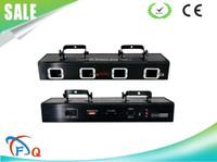 lazer dj al por mayor-Escáner lazer de envío gratis EE. UU. Lighing cuatro lente cuatro ojos luz láser de haz de color verde rojo