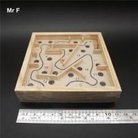 hölzernes labyrinthspiel groihandel-Operation Spaß Mini Holz Labyrinth Brettspiel Ball im Labyrinth Puzzle handgefertigten Spielzeug Kind Geschenk Kind