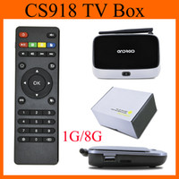Wholesale Rk3188 Quad Core - Android TV Box CS918 Free SkySports Movies Adult Arabic Indian IPTV Quad Core RK3188 MK888 1G 8G Bluetooth OTH121