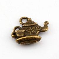 Wholesale Bronze Teapot - Hot ! 150pcs Antiqued Bronze Alloy Teapot Charm Pendant 13.5 x 15 mm DIY Jewelry