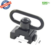 Wholesale Heavy Swivels - Easily QD Heavy Duty Quick Detach Push Button Sling Swivel Set Picatinny Mount 20mm