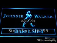 Wholesale Johnnie Neon Signs - a147-b Johnnie Walker Blue Label Bar NR Neon Light Sign