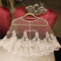 Wholesale apricot wedding dresses online - New Arrival Lace Bridal Wraps Custom Made Cheap Jackets Appliqued Bride Coat For Wedding Dresses Fast Shipping Bridal Accessories