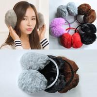 d395708cc94 Wholesale- Sale Fur Earmuffs Women Men Unisex Girls Winter Warm Earwarmers Ear  Muffs Earflap Warmer Headband Fur Round Earmuffs S3784