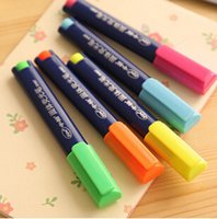 Wholesale Wholesale Jumbo Glitter Pens - Novelty Large Capacity Solid Jelly Highlighter Pen Markers Glitter Escolar Papelaria School Office Supply
