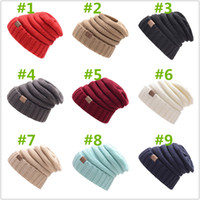 Wholesale Male Hiking Cap - Whosale Fashion Winter Hat For Women Skullies Beanies Knitted Caps Warm Caps Female Male Unisex Beanies Letter Solid Bonnets Hats